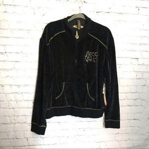 Women's black velour Mecca Femme 3x Jacket